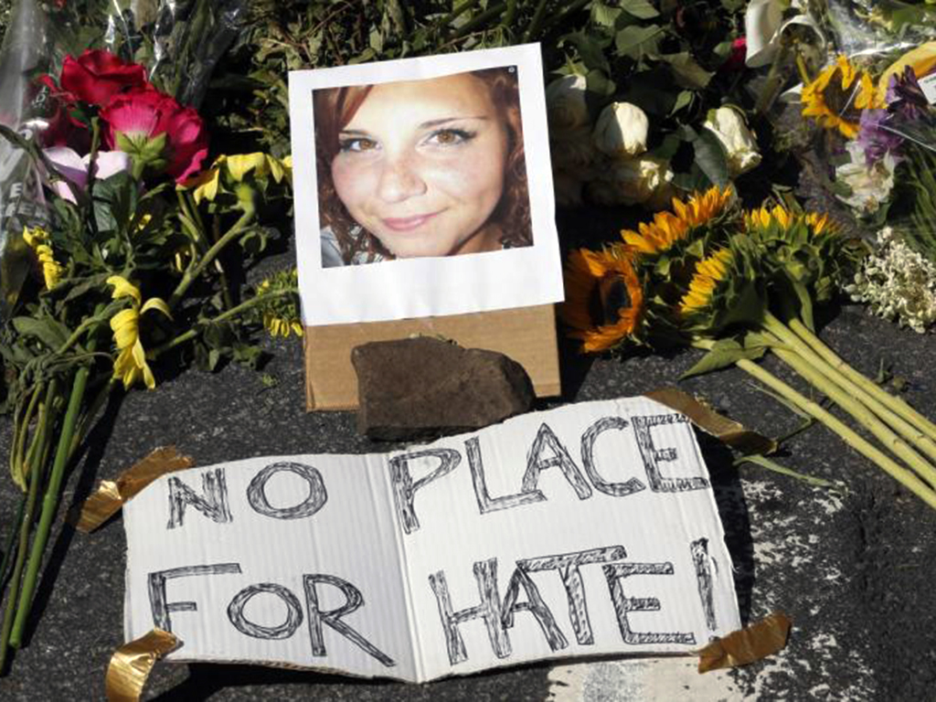 Charlottesville memorial to Heather Heyer