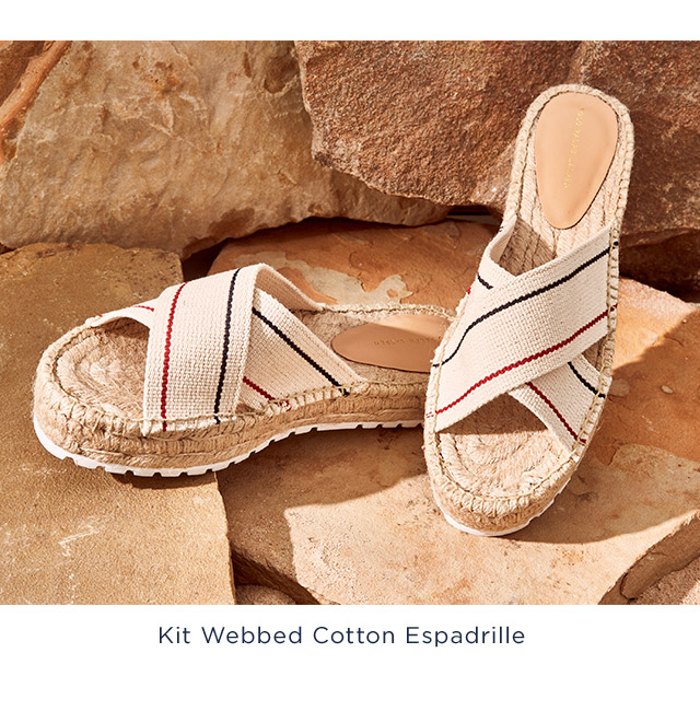 Kit Webbed Cotton Espadrille