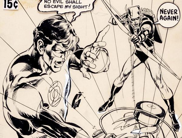 Neal Adams Green Lantern #76 Cover Green Arrow Original Art (DC, 1970)