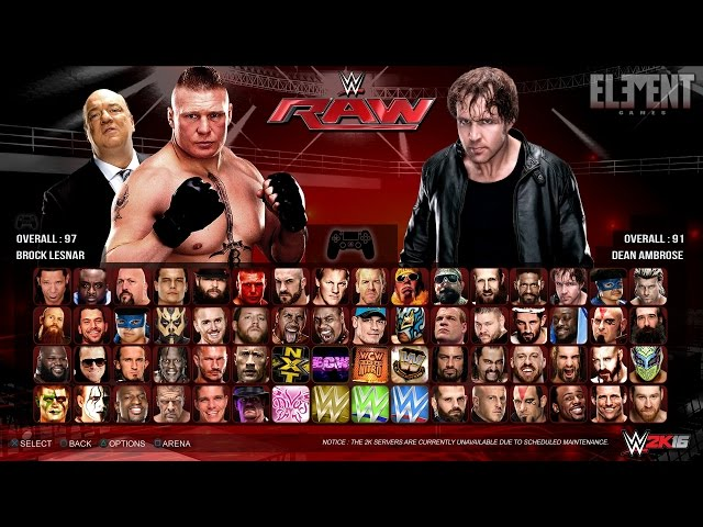 WWE 2K16 PS4 Xbox One PS3 And Xbox 360 Differences R