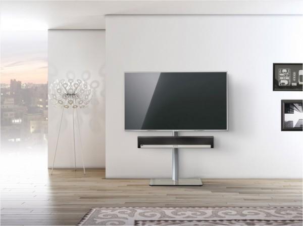 spectral tv600sp kg inkl soundbar adapter tv rack klarglas