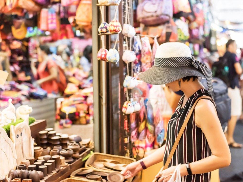 泰國的恰圖恰市集,商品種類繁多,一不留神就會讓荷包大失血。