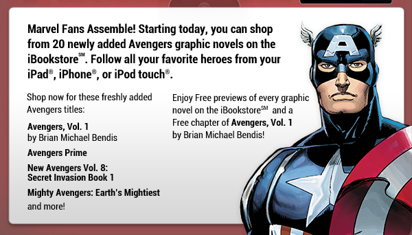 Information about iBookstore Avengers Offers