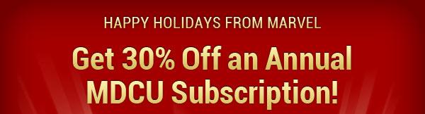 Get 30% Off Marvel Digital Comics Unlimited!