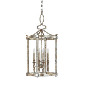 C9163sg Palazzo Large Foyer Chandelier Silver Gold Leaf
