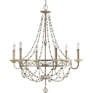 Pp444334 Chanelle Mid Sized Chandelier Antique Silver