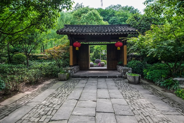 Jardín chino en zúrich Foto gratis