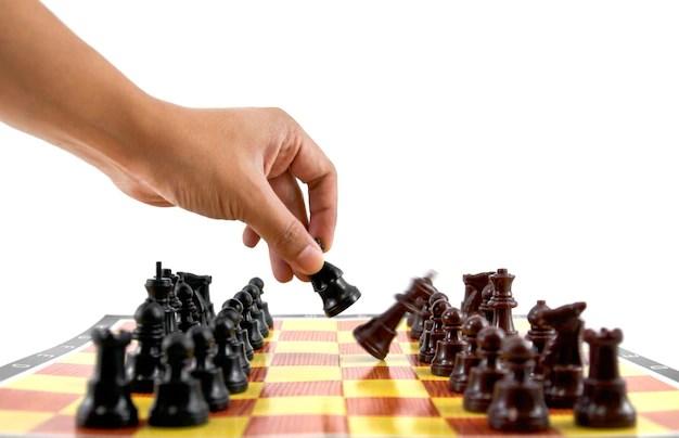 la lucha del caballero estratégica batalla atrapado Foto Gratis