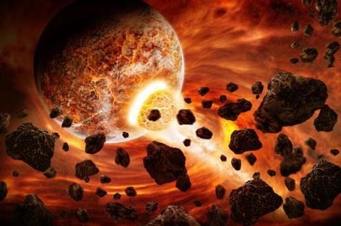 Planeta explosión apocalipsis | Foto Premium