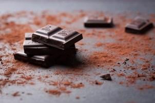 Trozos de chocolate Foto Gratis