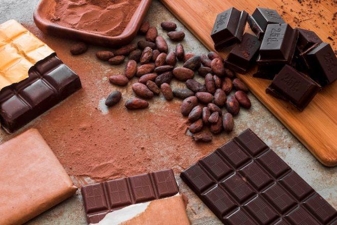 Cacao en grano, en polvo y en barra