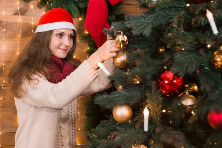Lady Woman Christmas Spending