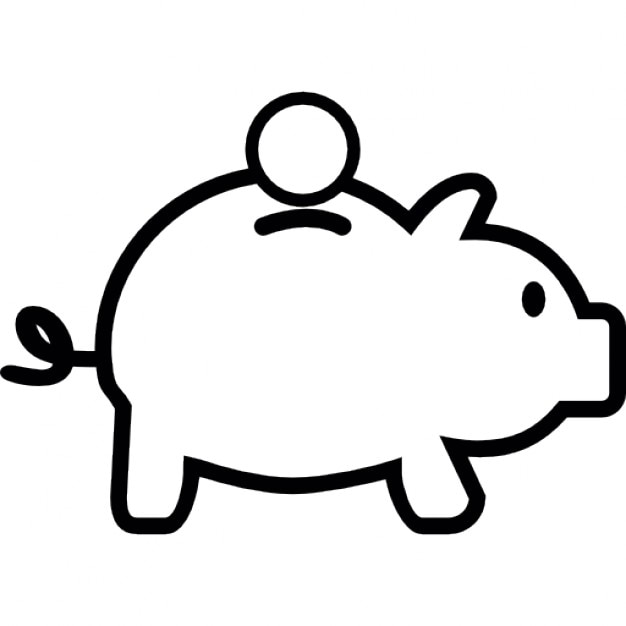 Piggy Bank IOS 7 Interface Symbol Icons Free Download