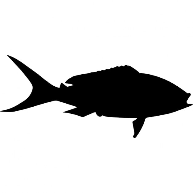 Yellowtail Fish Shape Icons Free Download