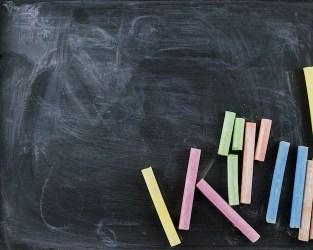 Back to school witch blackboard Free Photo