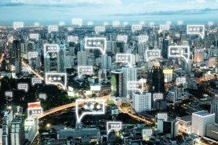 Cityscape icon symbol web element Free Photo