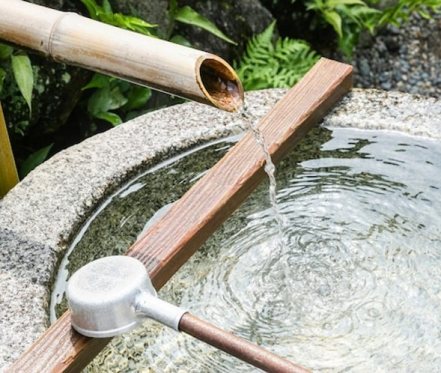 Close Up Of A Japanese Bamboo Fountain Free Photo