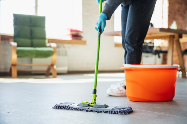 Disinfecting in home Free Photo