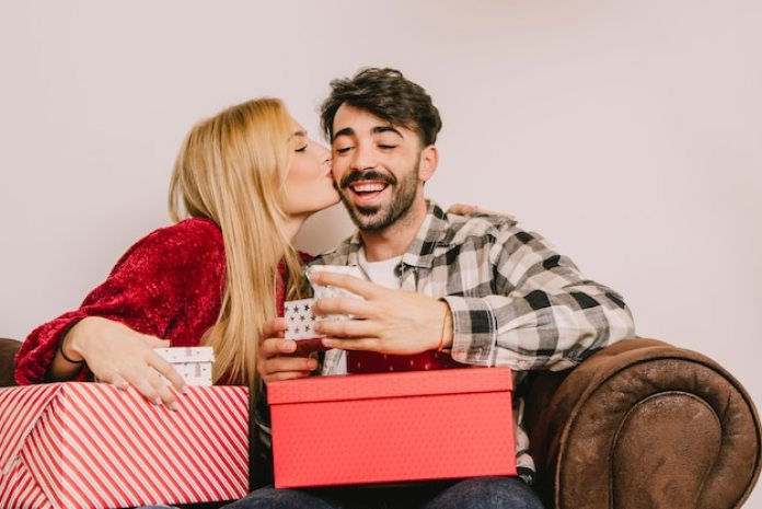 Image result for couple gifting