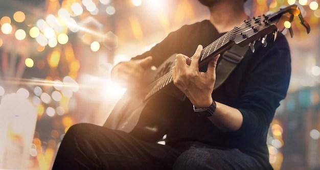 Gitarrist på scen