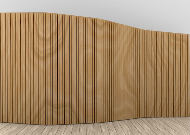 Premium Photo Modern Vertical Slim Long Wood Panels Wall Background