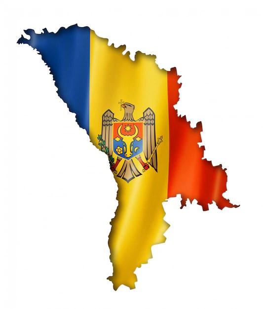 Moldova flag map   Premium Photo