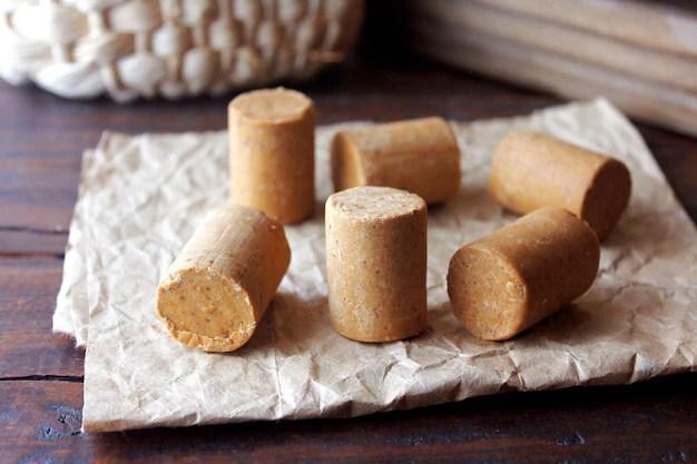 Peanut candy traditional brazilian sweet based on peanuts Premium Photo