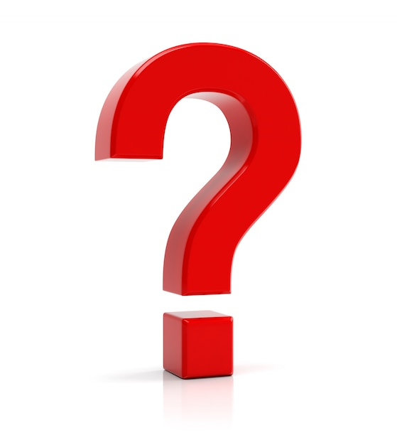 Red question mark symbol Photo | Premium Download