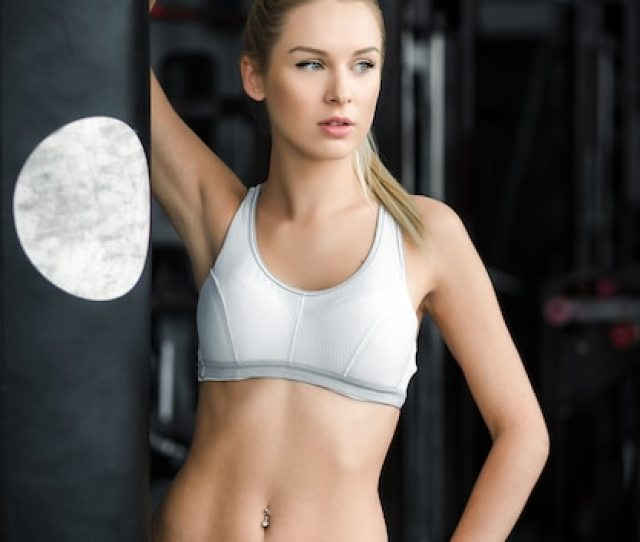 Sexy Woman Posing At The Gym Free Photo