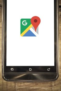 Smart phone display google maps app background Photo   Premium Download smart phone display google maps app background Premium Photo