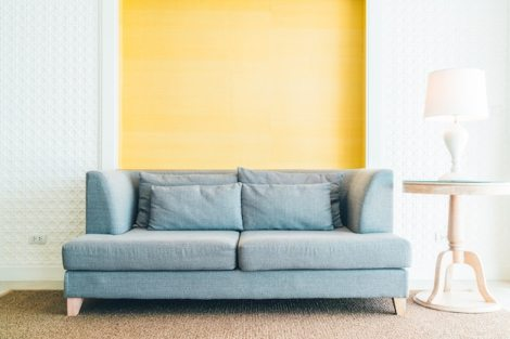Sofa in living room Free Photo