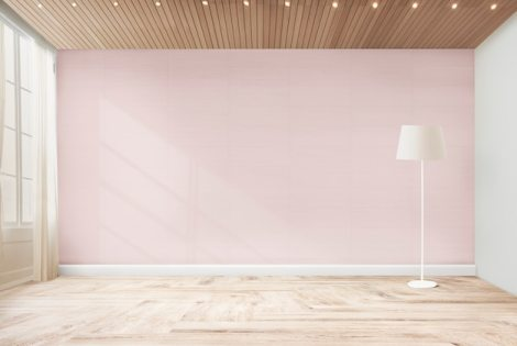 Standing lamp in a pink room Free Photo