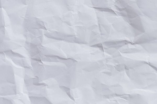 White crumpled paper background and texture, wrinkled ...