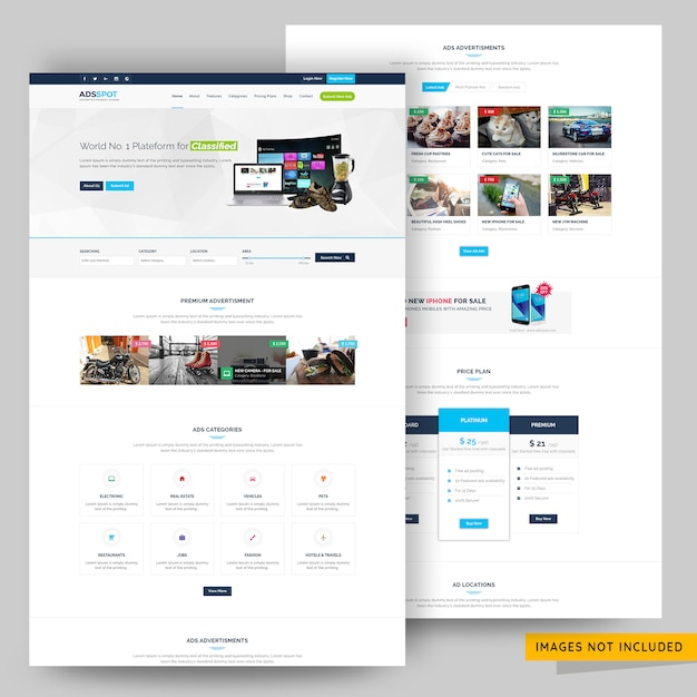 You can help yourself build all sorts of product and job listing, as well as directory websites with the easy to use classy ads. Premium Psd Ads Post Classified And Listing Website Template Premium Psd