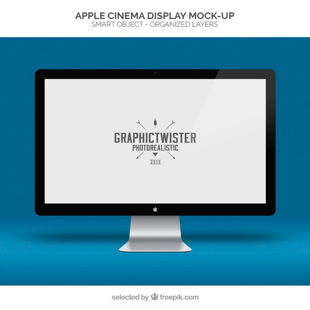 Apple Cinema Display Mockup Psd File Free Download