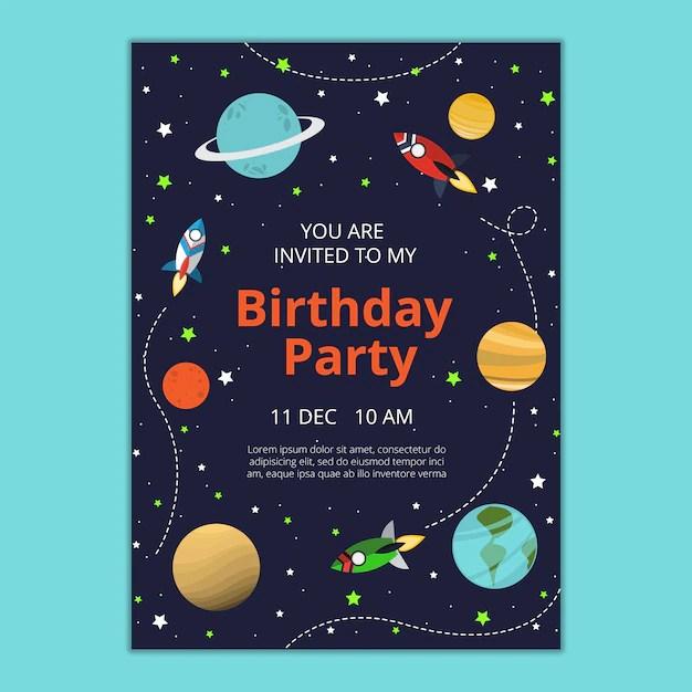 free psd birthday invitation template