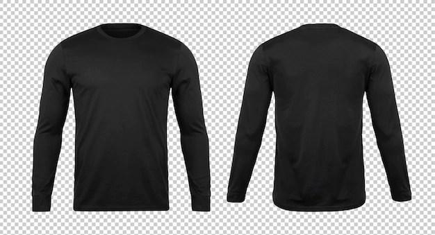 Download Premium PSD   Blank black long sleve tshirt mockup template
