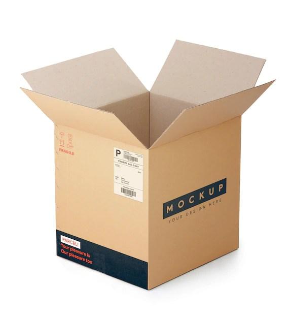 Download Cardboard box mockup | Premium PSD File