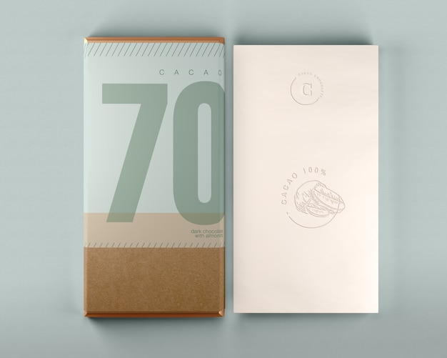 Download Chocolate box and wrapping design mock-up | Free PSD File
