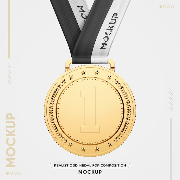 The best logo mockup for branding projects, stationary design presentation, and web presentations. Premium Psd Close Up On Gold Medal Mockup Isolated