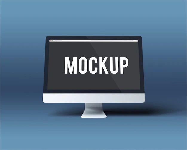 Computer Screen Mockup Psd File Free Download