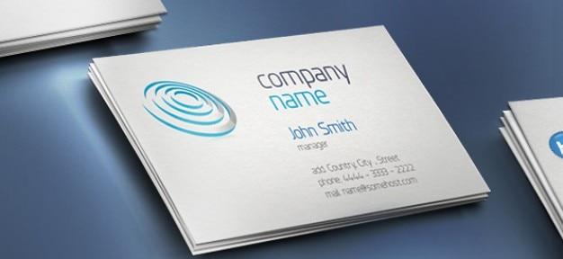 Creative Business Card With Company Name PSD File Free