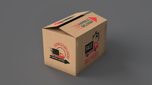 Download Delivery box mockup | Free PSD File