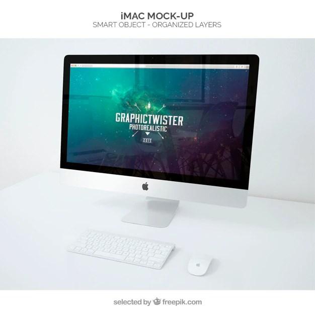 Imac Mockup PSD File Free Download