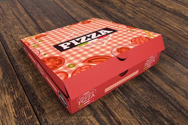 Download Isometric pizza box mockup PSD file | Free Download