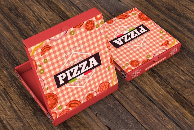 Download Isometric pizza box mockup | Free PSD File