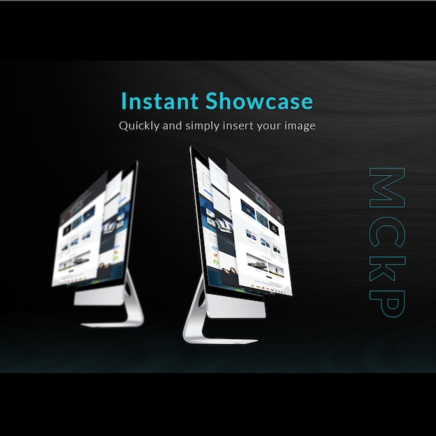 Mac Mock Up Showcase Psd File Free Download