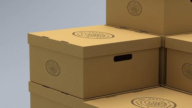 Download Mockup of cardboard boxes | Premium PSD File