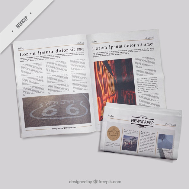 Download Mockup Newspaper Free Psd Yellowimages