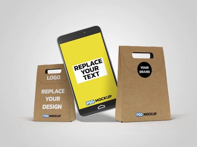 Download Premium PSD | Online delivery box mockup 3d rendering design